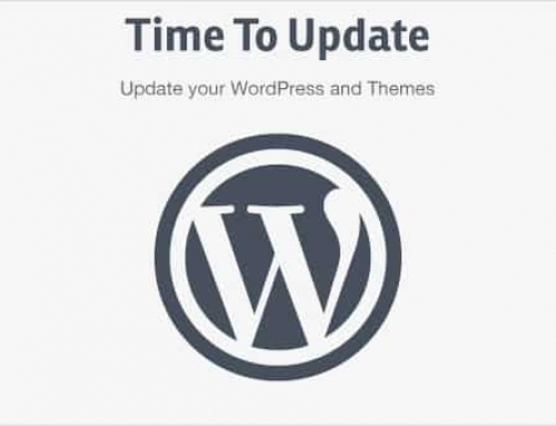 It's time to update WordPress