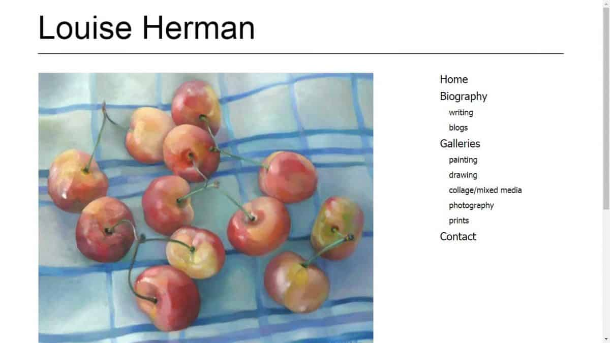 Louise Herman Artist/Writer website