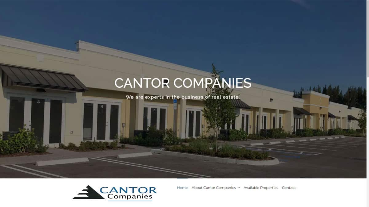 Cantor Companies Website