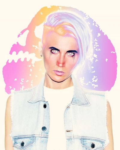 How to Create a Neon Rainbow Photoshop Portrait Effect