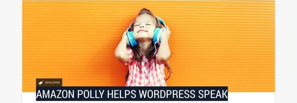 Amazon helps WordPress Speak
