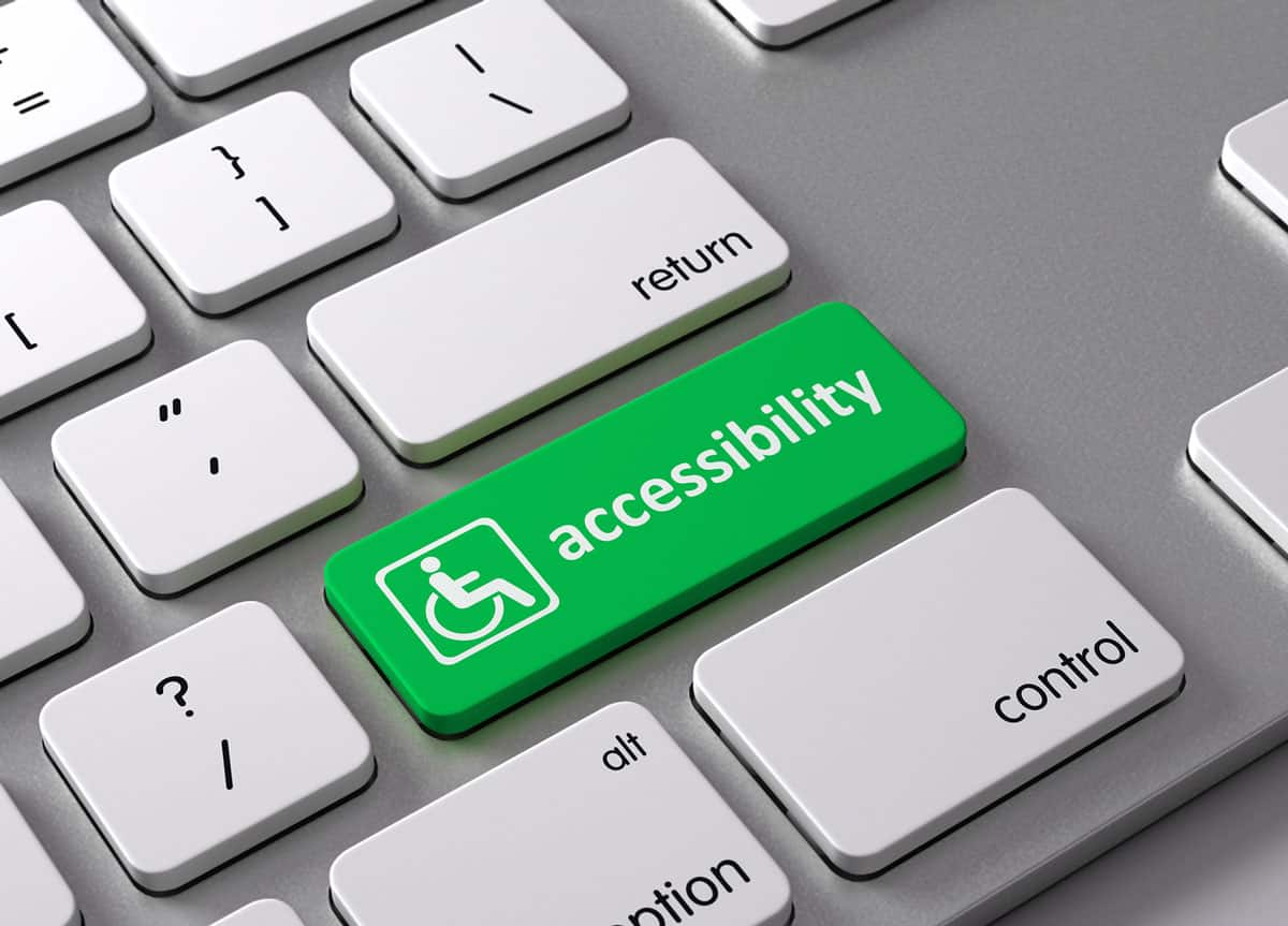 Website accessibility keyboard