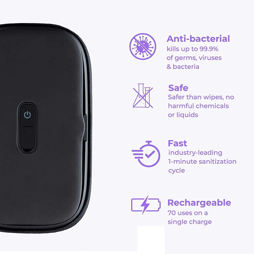 HoMedics UV-Clean Phone Sanitizer | Faster Than Any UV Sanitizer On The Market | Kills Up to 99.9% of Bacteria & Viruses at The DNA Level | Mercury and...