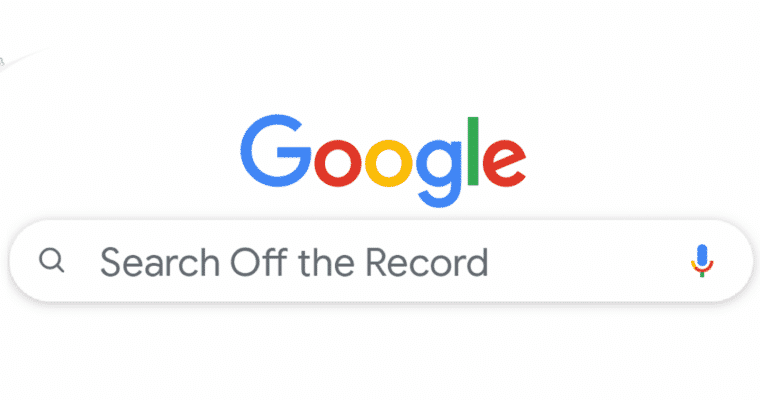 google-search-off-record