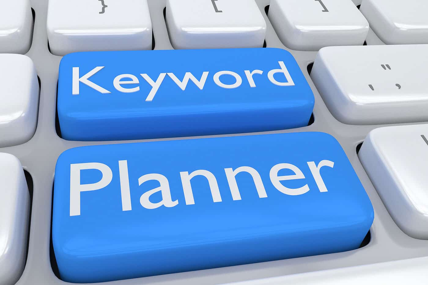 Keyboard with Keyword Planner keys